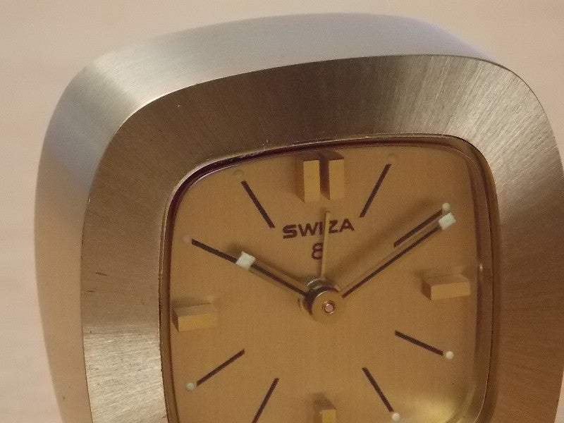 Small Swiza 8 Day Small Brass Wind Up Clock I Like Mikes