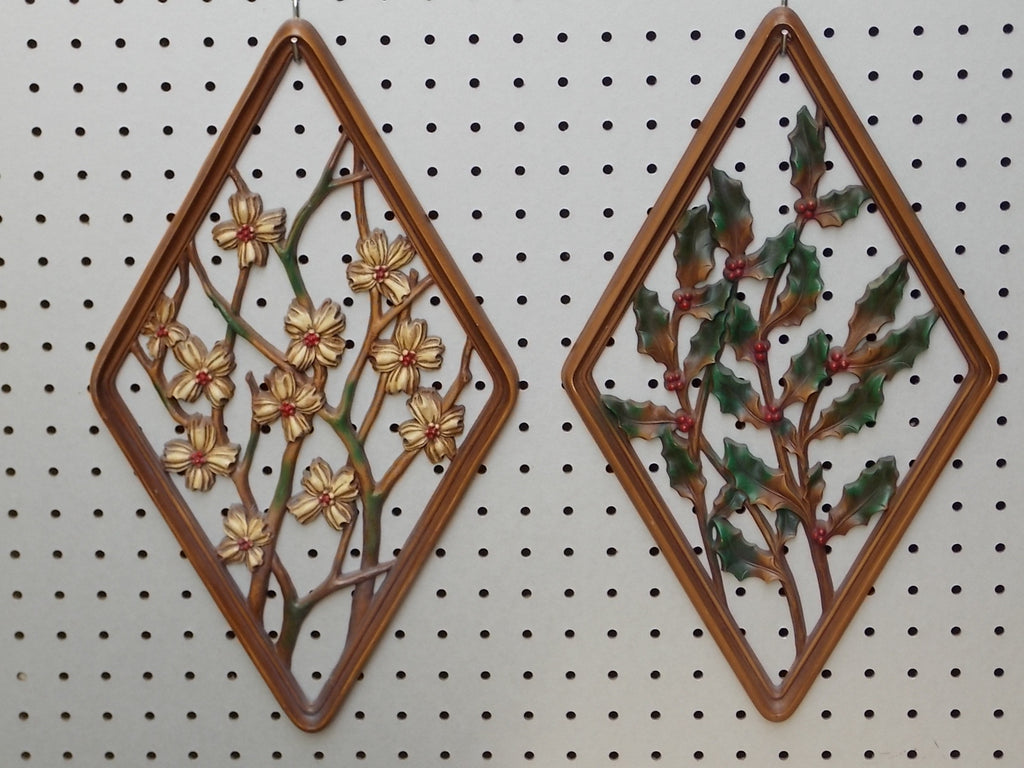 Shering West German Ceramic Horticulture Coasters Set Of