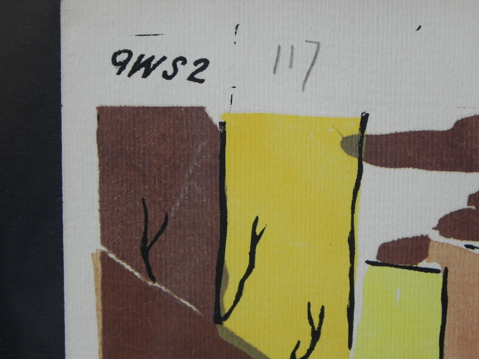 Mid-Century Lithograph by Wylie Newly Framed-Street Scene with Café ...