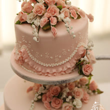 Load image into Gallery viewer, Blushing Roses Cake