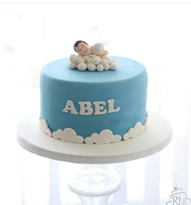 Baby on Cloud Cake