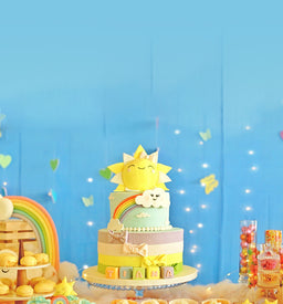 Rainbows and Sunshine Cake