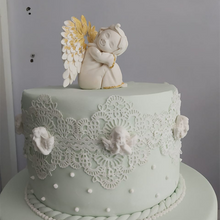 Load image into Gallery viewer, Baptism Cake with Angels Cake