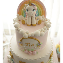 Load image into Gallery viewer, Unicorn on a Rainbow Cake