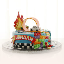 Load image into Gallery viewer, Hot Wheels and Lego Cake