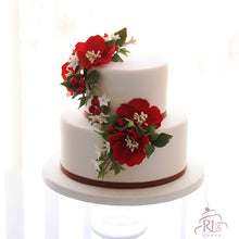 Load image into Gallery viewer, Red Blooms Cake