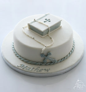 Bible and Rosary Cake