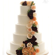 Load image into Gallery viewer, The Rose Trail Wedding Cake