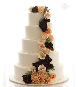 The Rose Trail Wedding Cake
