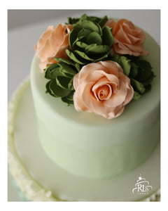 Oh-so-pretty Ombre Ruffle Cake