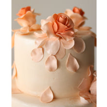Load image into Gallery viewer, Peach Roses Wedding Cake