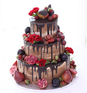 Fresh Flowers and Fruit Naked Cake