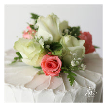 Load image into Gallery viewer, Rustic Tiers with Fresh Flowers Cake