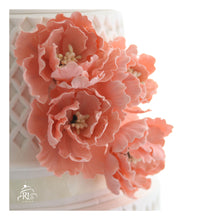 Load image into Gallery viewer, Glorious Peonies Tier Cake
