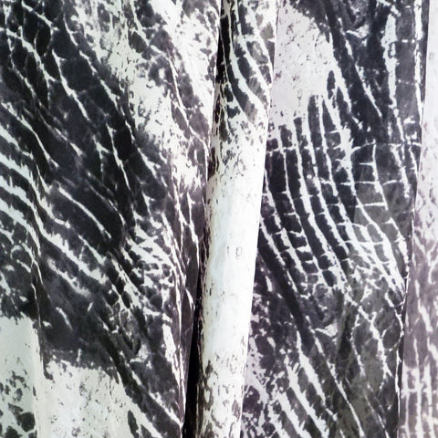 Black and white abstract print chiffon - Price per metre