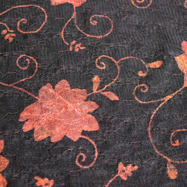 Burnt Rose Mesh Lace fabric - Price per metre