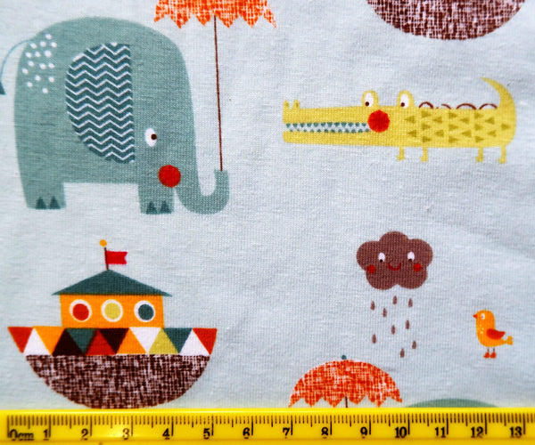Giraffe Crossing Stretch Knit - Price per half metre