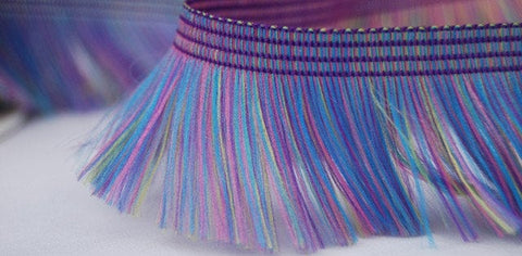 Purple Multi Fringe Trim - Price per metre