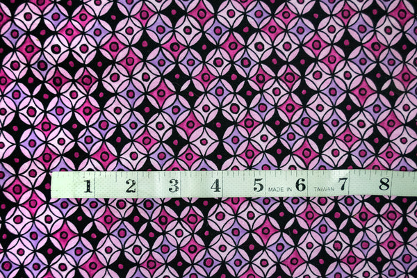 Ellen Medlock Hippy Hoops cotton fabric - Price per half metre