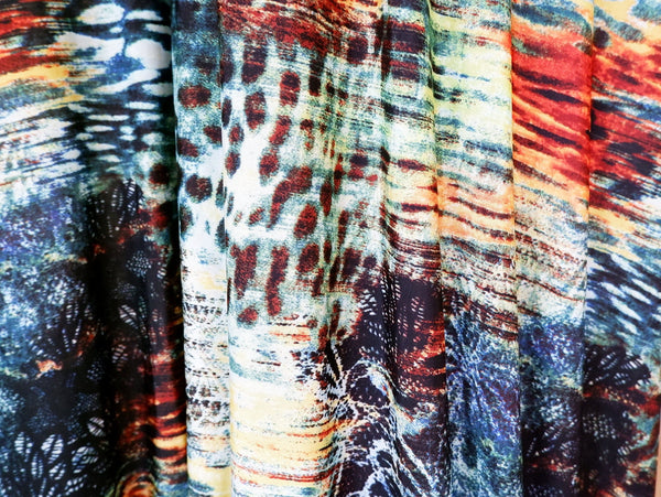 Abstract knit fabric, stretch jersey - Price per metre
