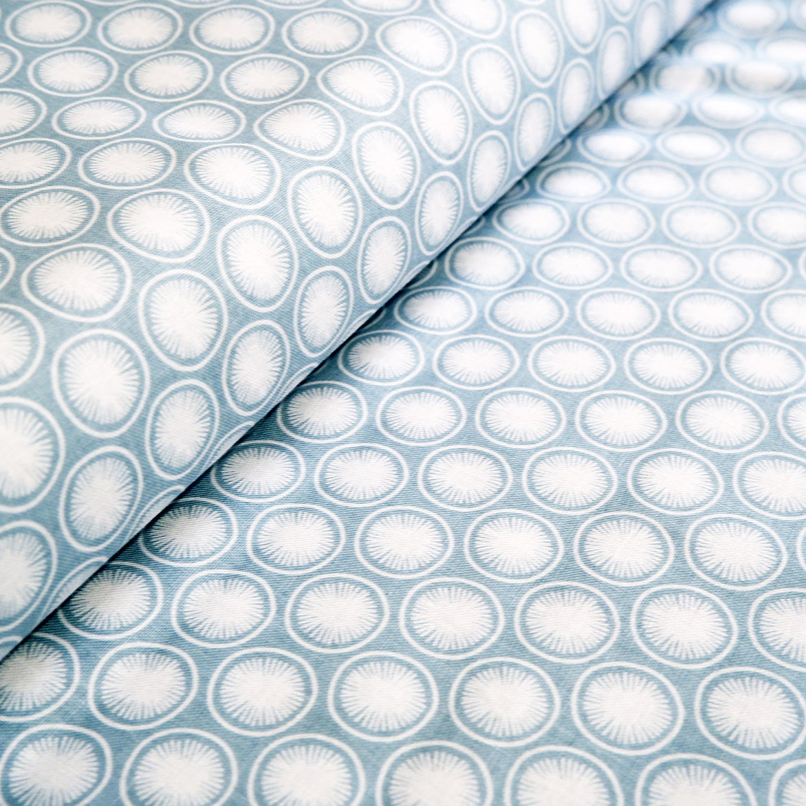 Blue Modern fabric - 100% Cotton - Price per half metre