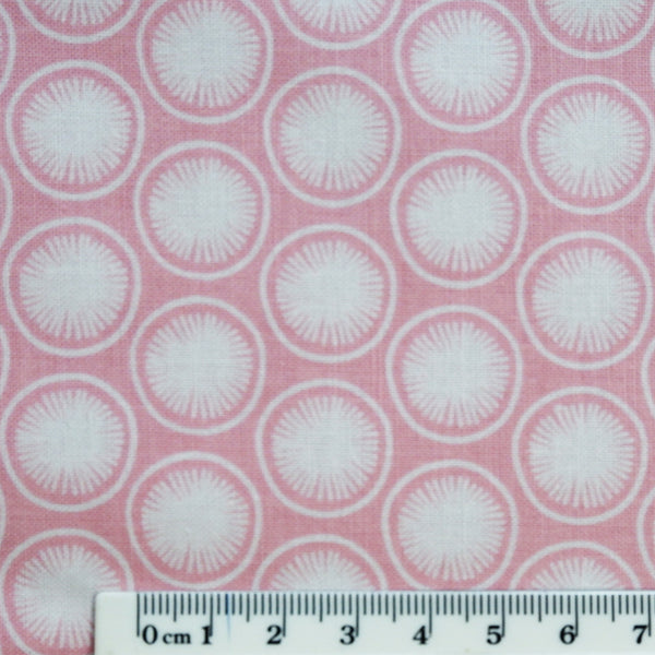 Pink Modern fabric - 100% Cotton - Price per half metre