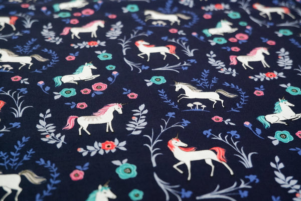 My Unicorn Navy - Riley Blake - 100% Cotton - Price per half metre