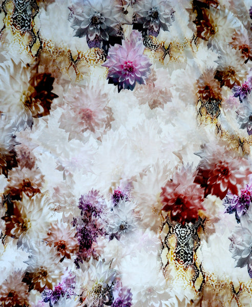 Stretch Jersey Floral and Animal Print Knit Fabric - Price per metre