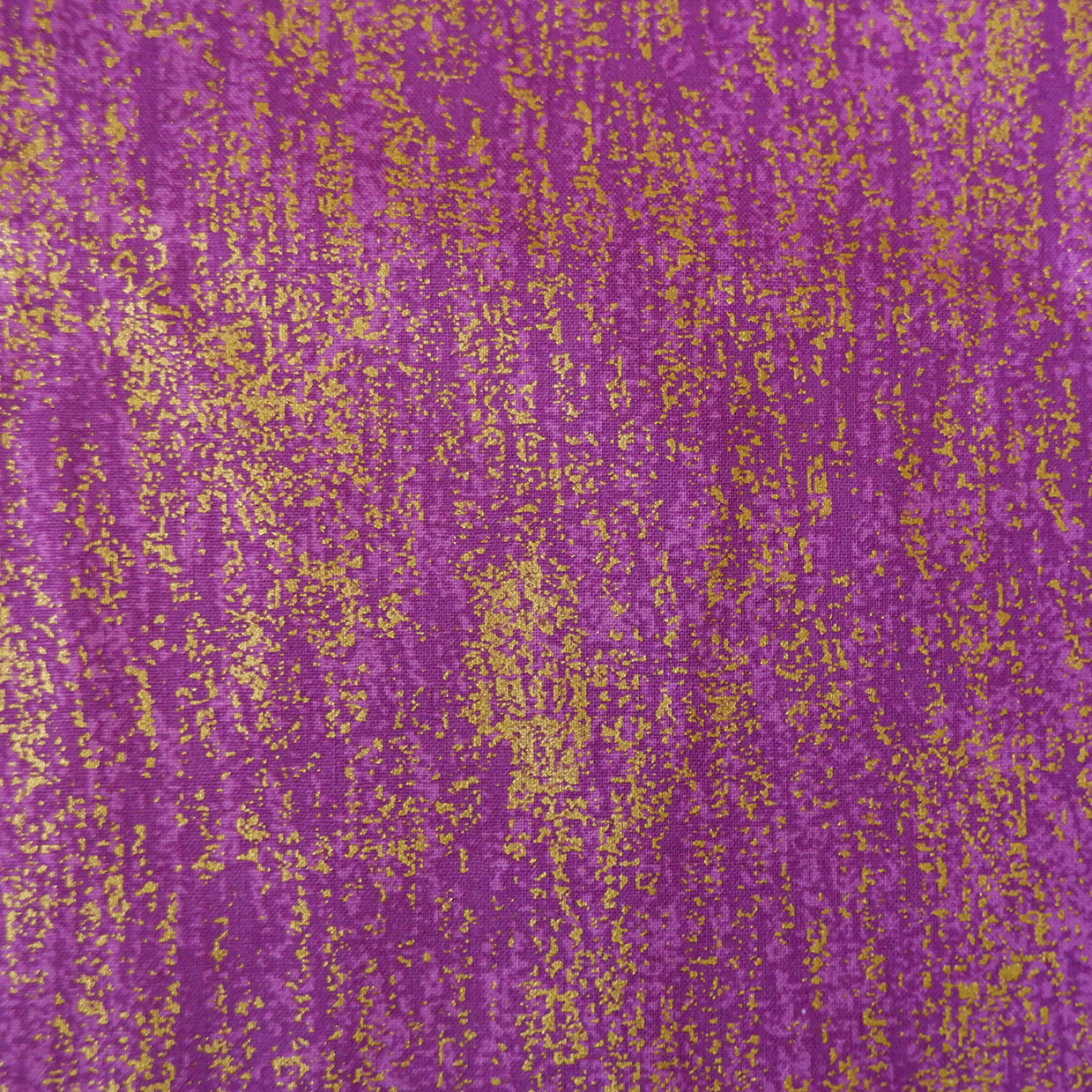 Cotton Fabric, purple with gold accents - Price per half metre