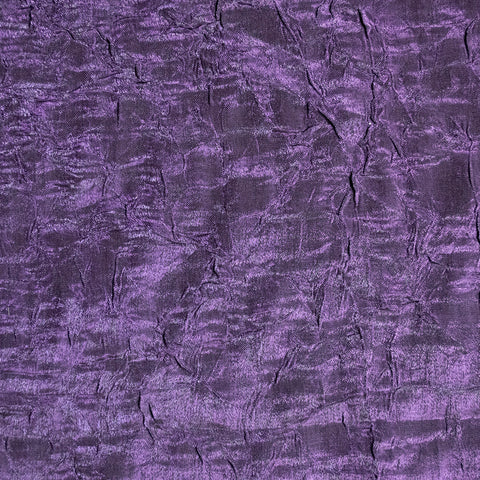 Purple shot with black crushed polyester fabric - Price per metre