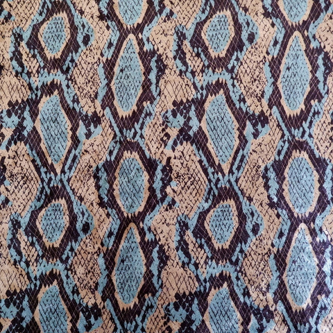 Snake skin print velour, stretch fabric - Price per metre