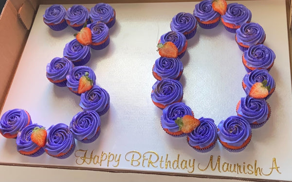 Cupcake pull apart cakes: Double numbers