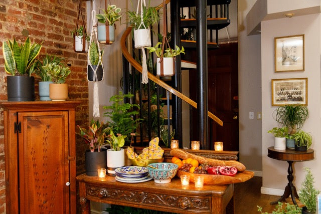 Marcy Blum's Elevated, Plant-Filled Buffet