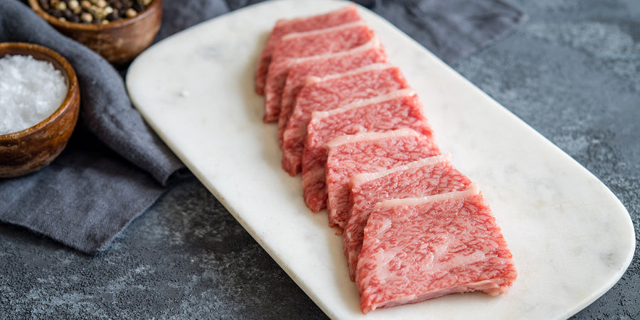 Japanese A5+ Wagyu Split-Cut New York Strip - Mobile Gourmet Foods