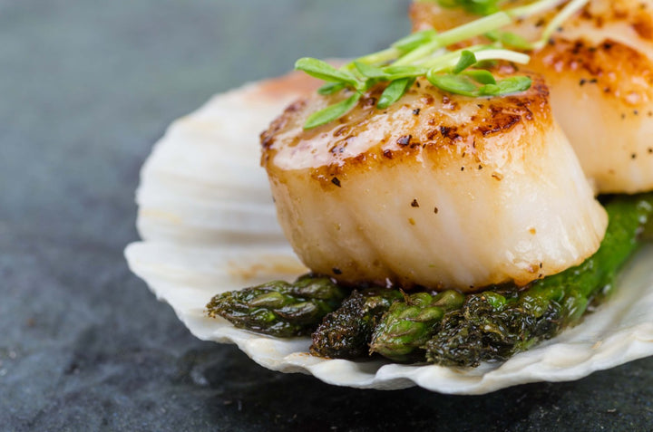 Scallops Jumbo Diver, Dry 10/20, Wild, USA - Mobile Gourmet Foods