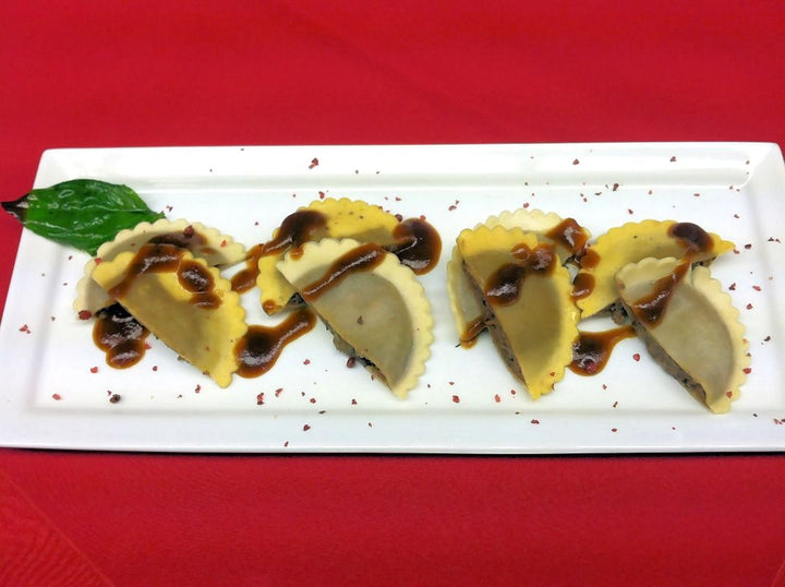 Wagyu Beef with Porcini Mushrooms and Black Truffles Ravioli - Mobile Gourmet Foods