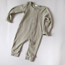 Load image into Gallery viewer, ASPEN Footless Ribbed Romper - Sage