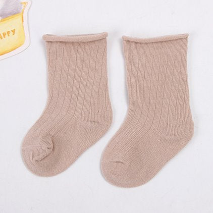 Latte Beige toddler baby ankle socks