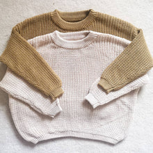 Load image into Gallery viewer, Knitted sweater baby toddler cosy cream beige