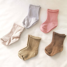 Load image into Gallery viewer, Khaki Ribbed Socks