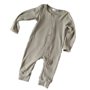 ASPEN Footless Ribbed Romper - Sage