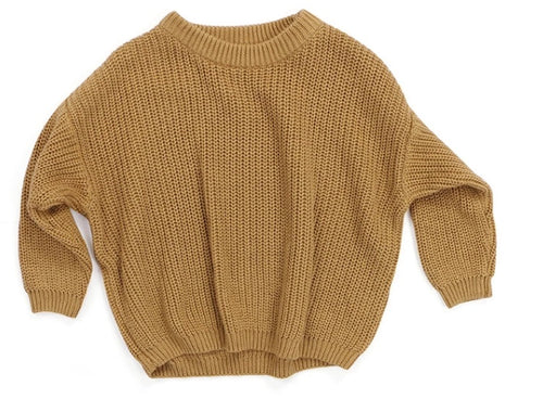Beige knitted baby toddler jumper sweater