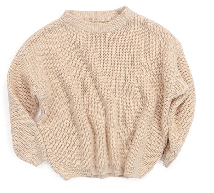 Cream knitted baby toddler jumper sweater