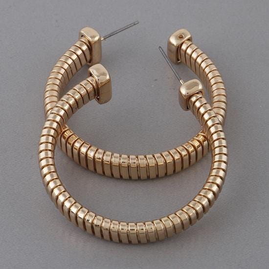Thick Hoop Earrings - Fashion Mode Gallery
