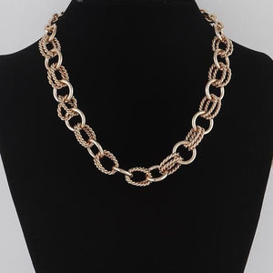 Brooklyn Thick Chain Choker Necklace - Fashion Mode Gallery