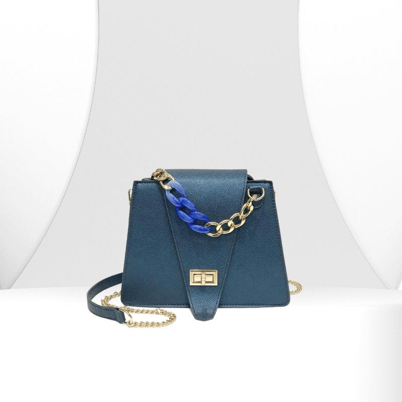 Juliette - Structural Chain Strap Shoulder Bag - Fashion Mode Gallery