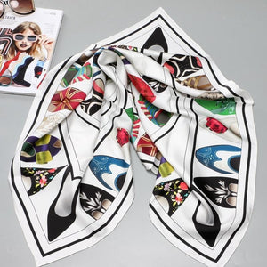Pure Silk Luxury Square Scarf - Fashion Mode Gallery
