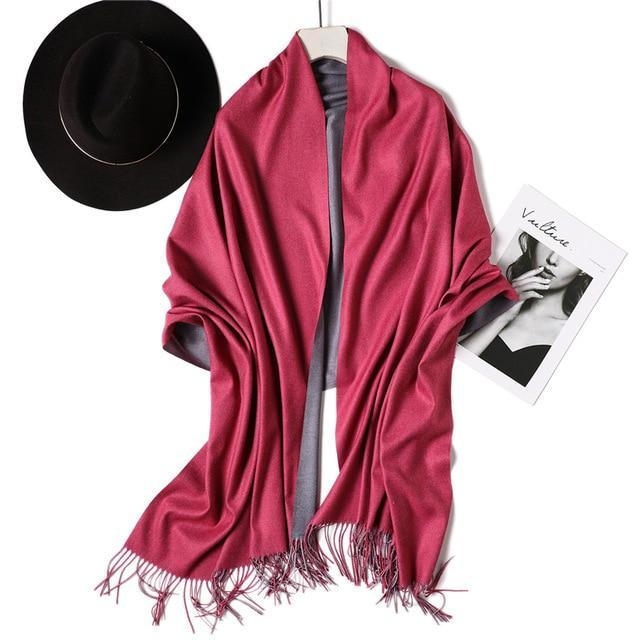 Cozy Chic Reversible Cashmere Scarf & Winter Shawl - Fashion Mode Gallery