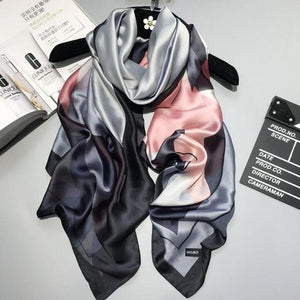 Stylish Women's Wrap in Pink & Grey - Fashion Mode Gallery
