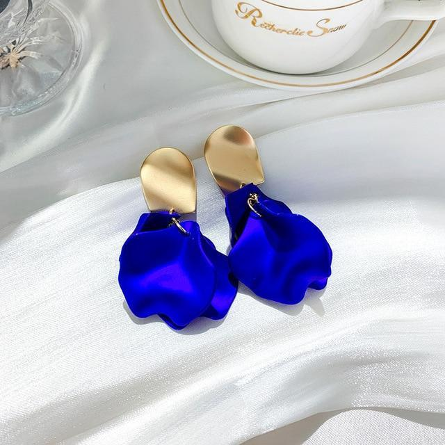 Rose Petal Royal Earrings - Fashion Mode Gallery